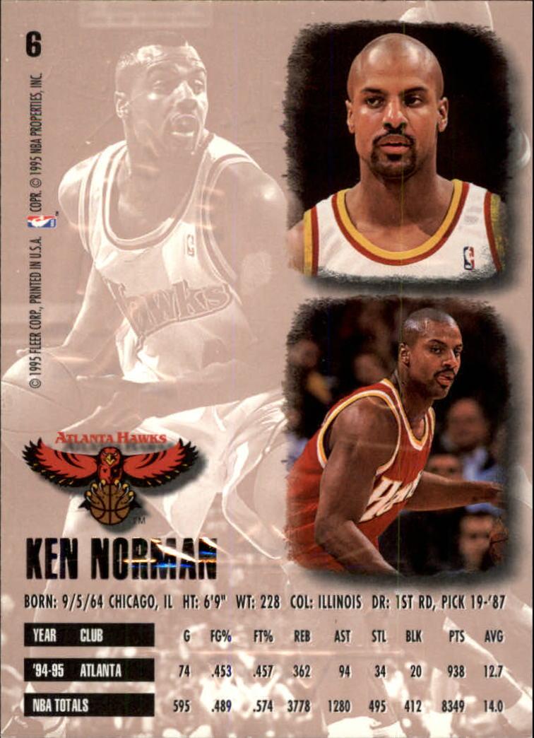 1995-96 Ultra Gold Medallion #6 Ken Norman back image
