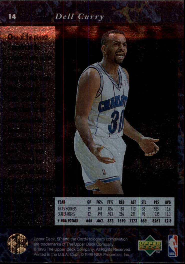 1995-96 SP #14 Dell Curry back image