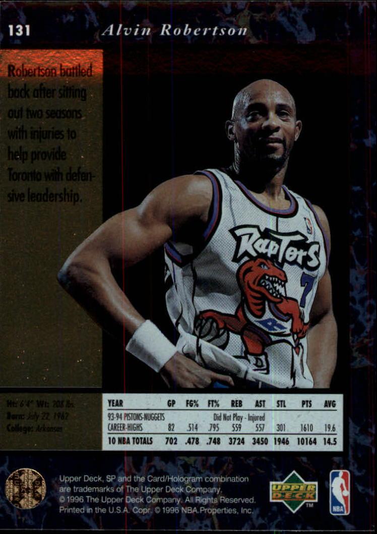 1995-96 SP #131 Alvin Robertson back image