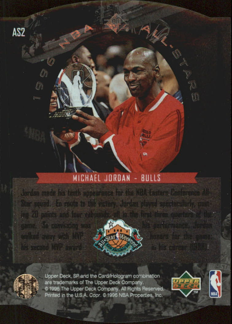 1995-96 SP All-Stars #AS2 Michael Jordan back image