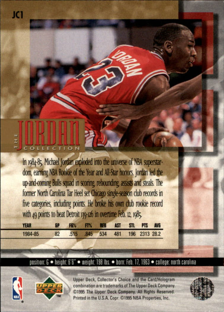 1995 96 Collectors Choice Jordan Collection Jc1 Michael