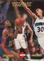 1996 Collector's Edge Time Warp Holofoil #7 Kerry Kittles/Isiah Thomas