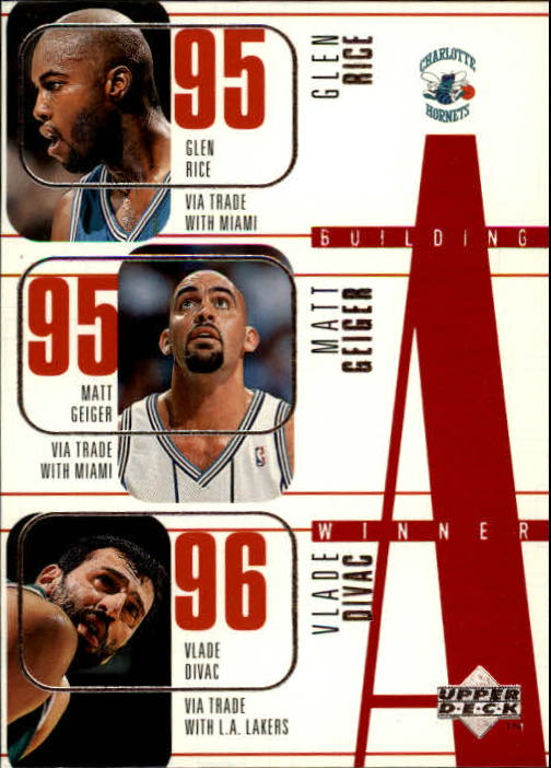 1996-97 Upper Deck #138 Glen Rice/Matt Geiger/Vlade Divac/Scott Burrell/George Zidek