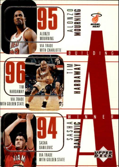 1996-97 Upper Deck #149 Alonzo Mourning/Tim Hardaway/Sasha Danilovic/Kurt Thomas/Keith Askins