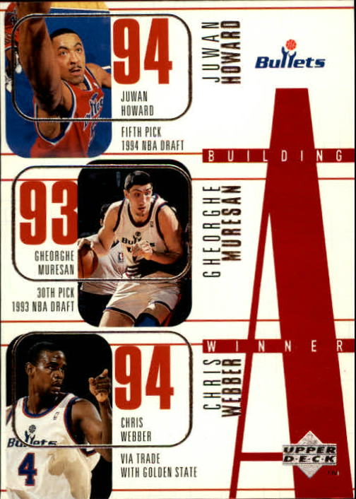 1996-97 Upper Deck #164 Juwan Howard/Gheorge Muresan/Chris Webber/Calbert Cheaney/Tim Legler