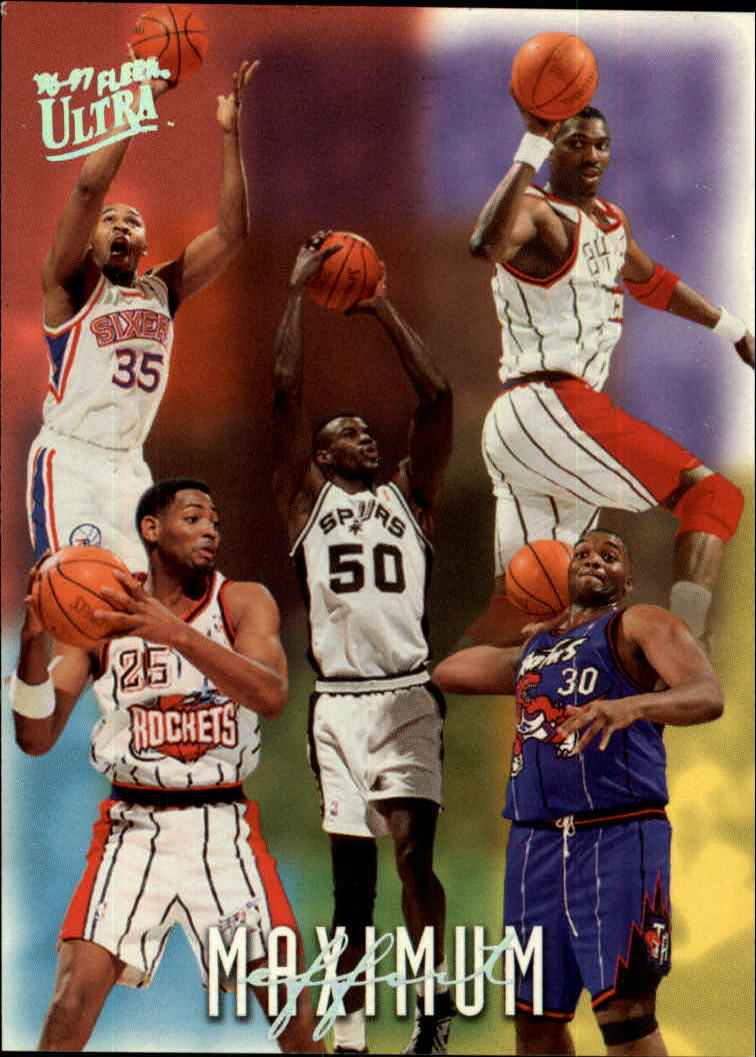 1996 97 Ultra 148 Hakeem Olajuwon David Robinson Robert Horry