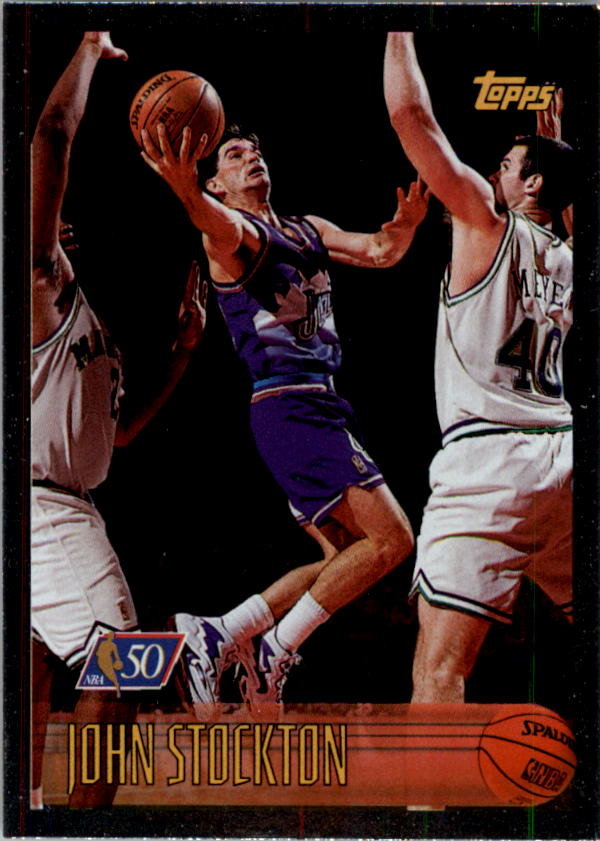 1996-97 Topps NBA at 50 #123 John Stockton