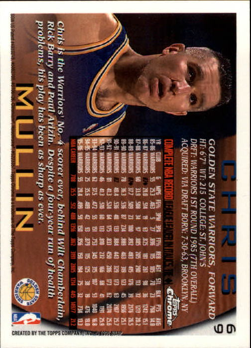 1996-97 Topps Chrome #69 Chris Mullin back image