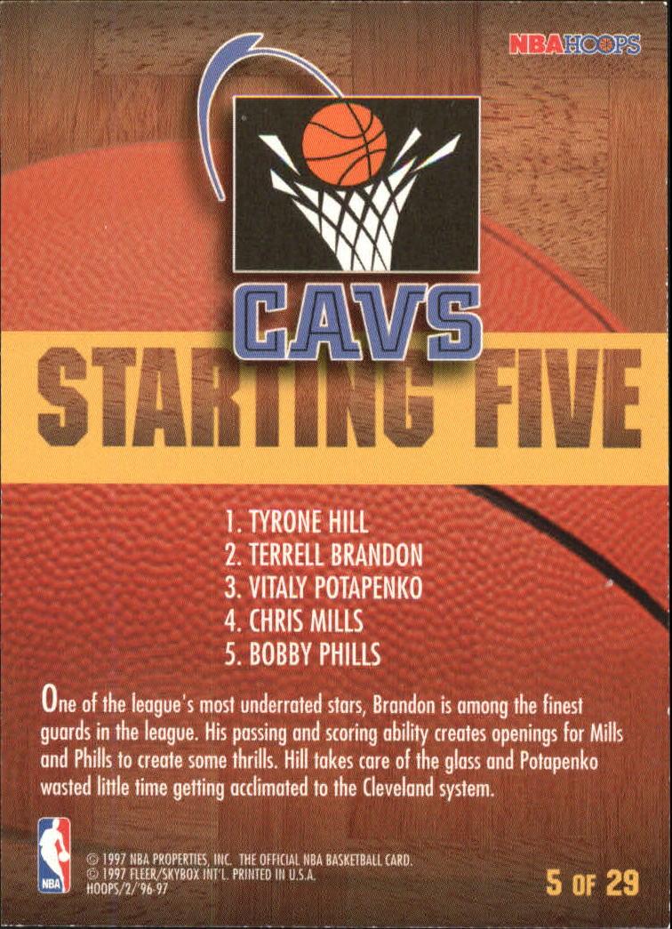 1996 97 Hoops Starting Five 5 Terrell Brandon Tyrone Hill Chris