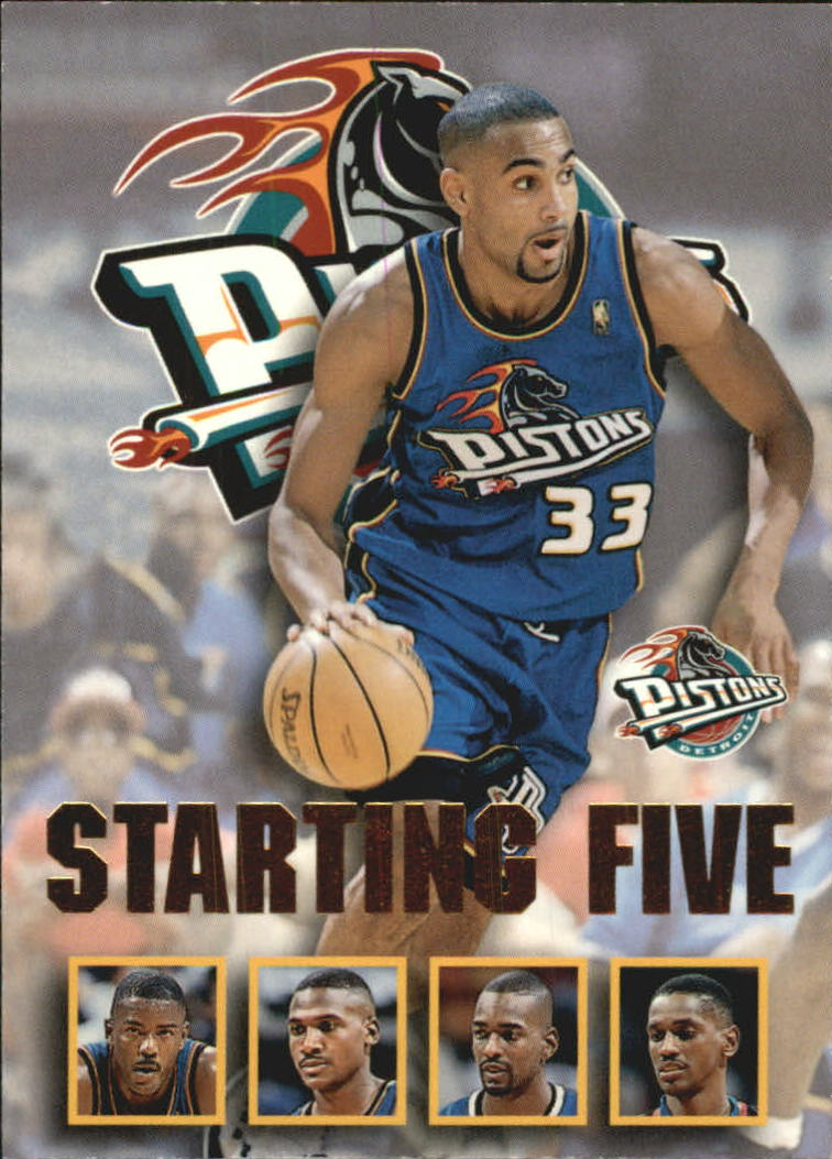 1996 97 Hoops Starting Five 8 Stacey Augmon Joe Dumars Grant Hill