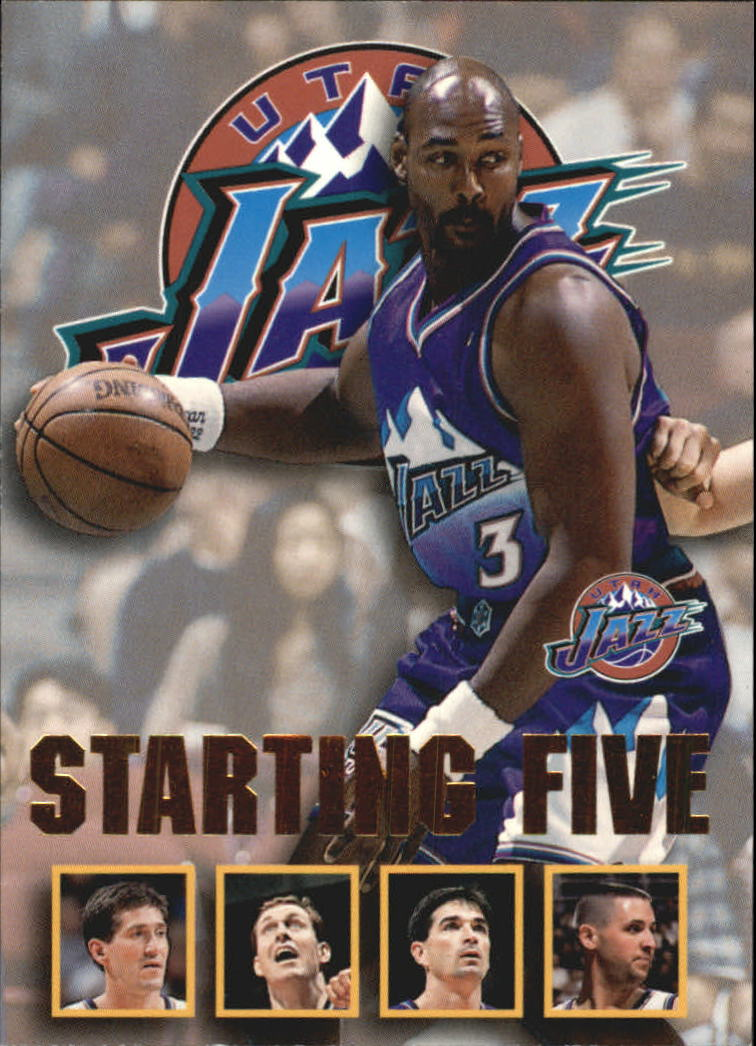 1996 97 Hoops Starting Five 27 Jeff Hornacek Adam Keefe Karl
