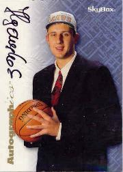 1996-97 SkyBox Premium Autographics #31 Zydrunas Ilgauskas