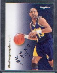 1996-97 SkyBox Premium Autographics #33 Mark Jackson