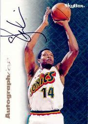 1996-97 SkyBox Premium Autographics #64 Sam Perkins