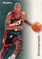 1996-97 SkyBox Premium Autographics #77 Eric Snow