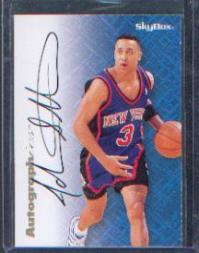 1996-97 SkyBox Premium Autographics #80 John Starks