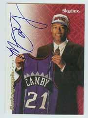 1996-97 SkyBox Premium Autographics Blue #12 Marcus Camby