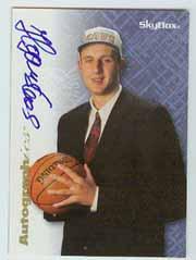 1996-97 SkyBox Premium Autographics Blue #31 Zydrunas Ilgauskas