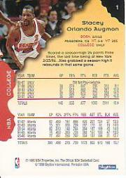 1996-97 Hoops #1 Stacey Augmon back image