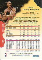 1996-97 Hoops #2 Mookie Blaylock back image
