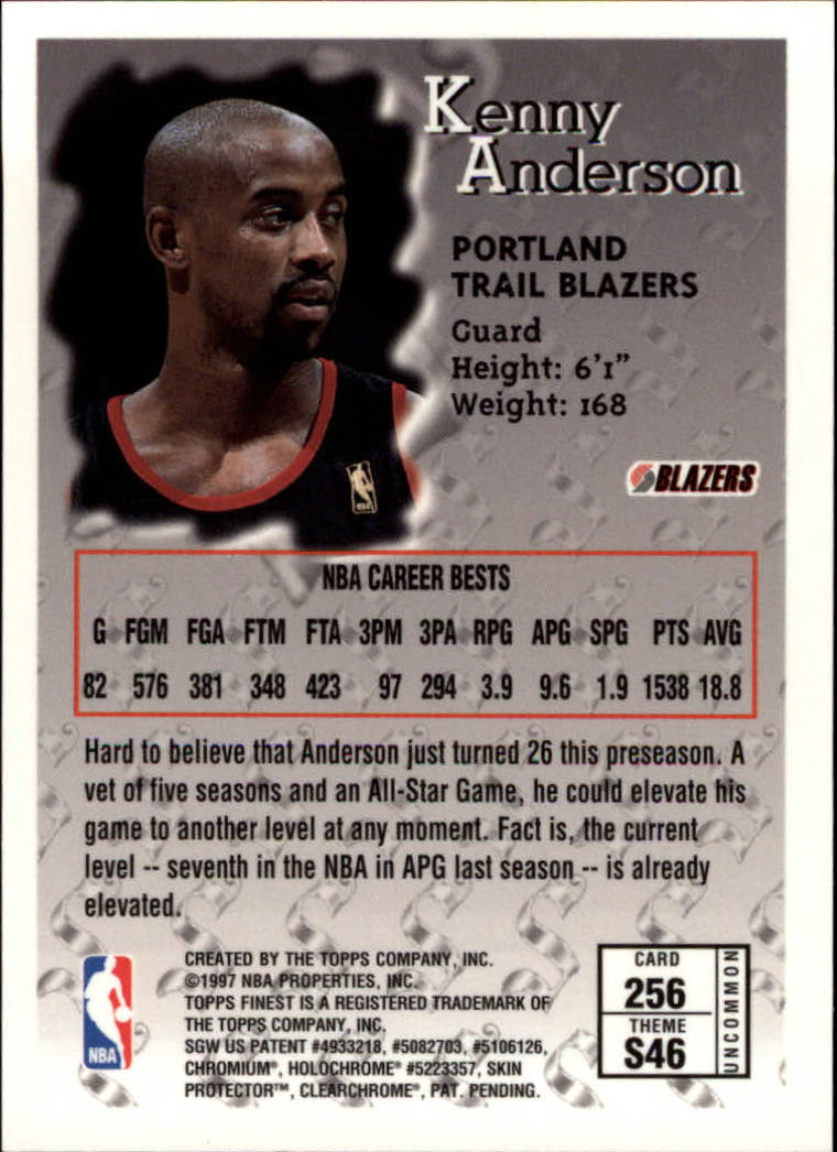 1996-97 Finest #256 Kenny Anderson S back image