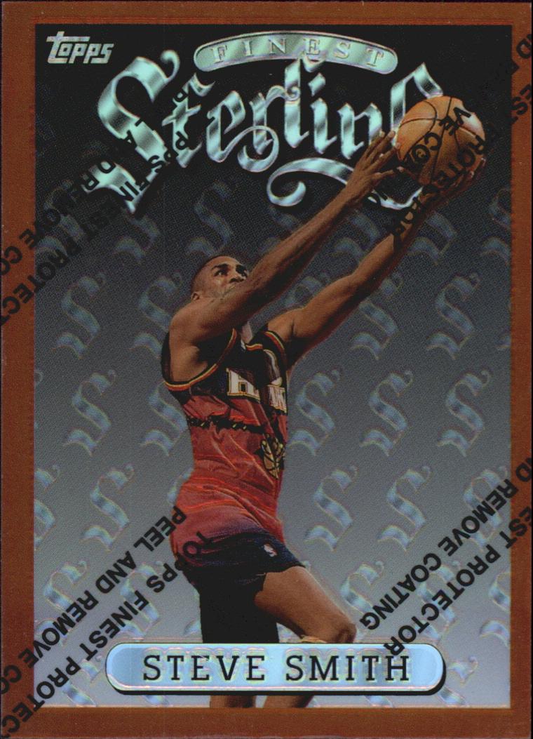 1996-97 Finest Refractors #214 Steve Smith B