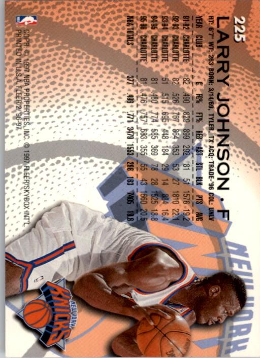 1996-97 Fleer #225 Larry Johnson back image