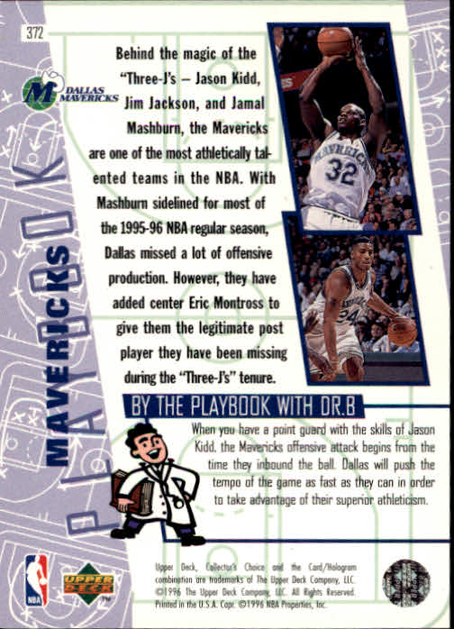 1996-97 Collector's Choice #372 Jason Kidd PLAY back image