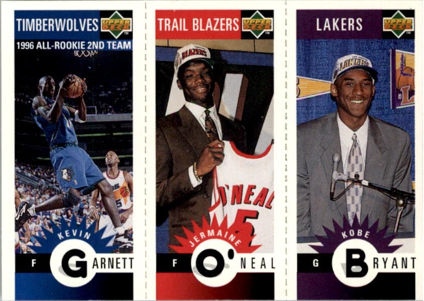 1996-97 Collector's Choice Mini-Cards #M129 Kobe Bryant/Jermaine O'Neal/Kevin Garnett