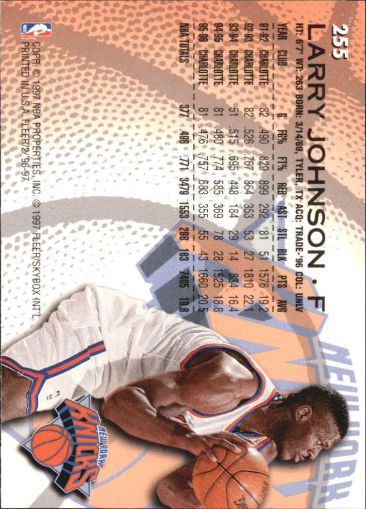 1996-97 Fleer European #255 Larry Johnson back image