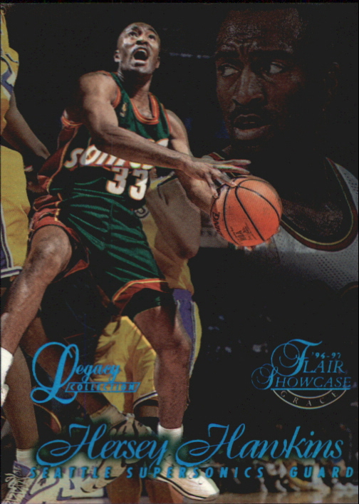 1996-97 Flair Showcase Legacy Collection Row 1 #84 Hersey Hawkins