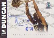 1997 Score Board Autographed BK Gold Autographs #17 Tim Duncan/221