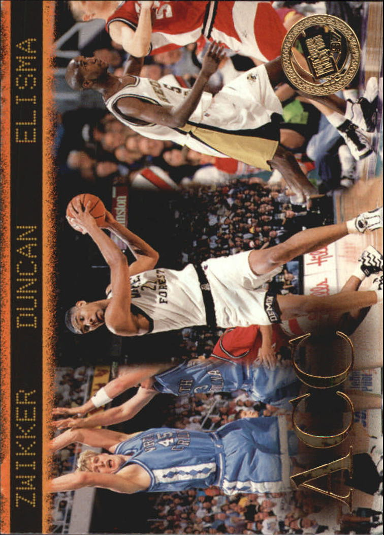 1997 Press Pass #41 Serge Zwikker/Tim Duncan/Eddie Elisma