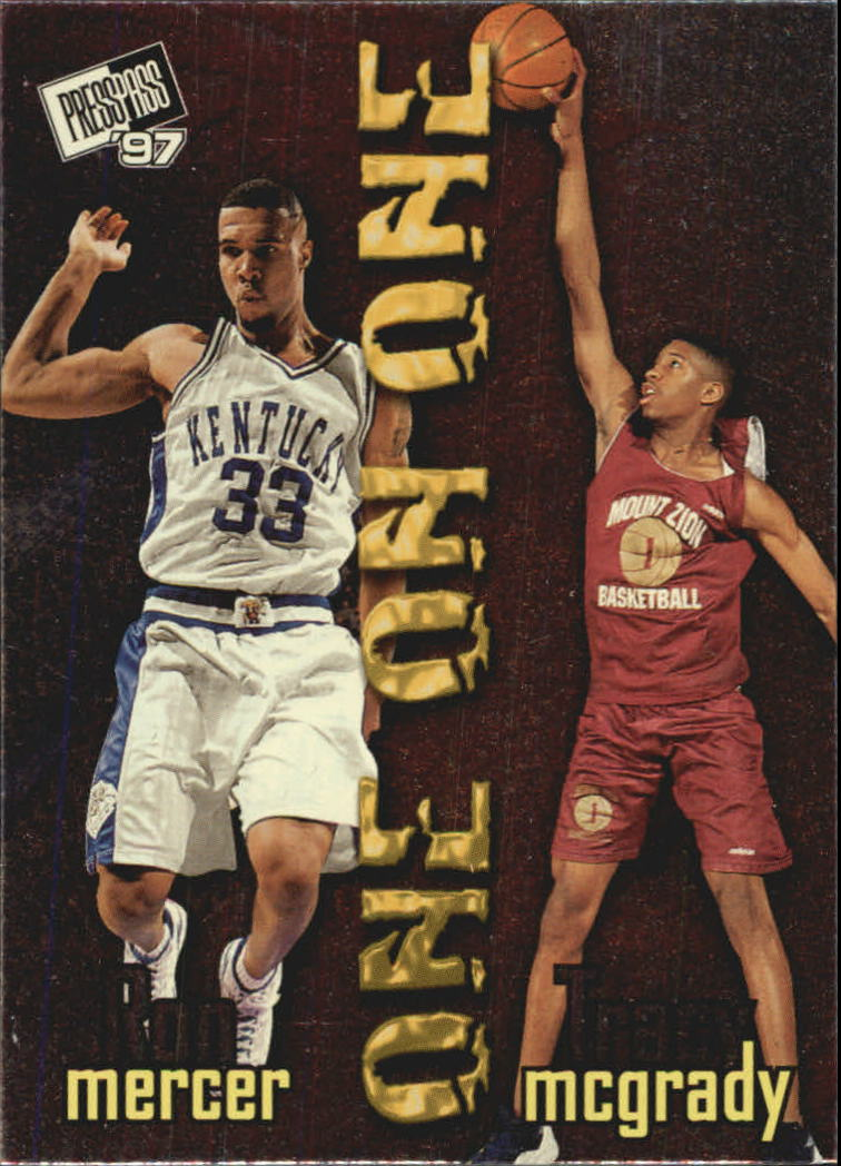 1997 Press Pass One On One #3 Ron Mercer/Tracy McGrady
