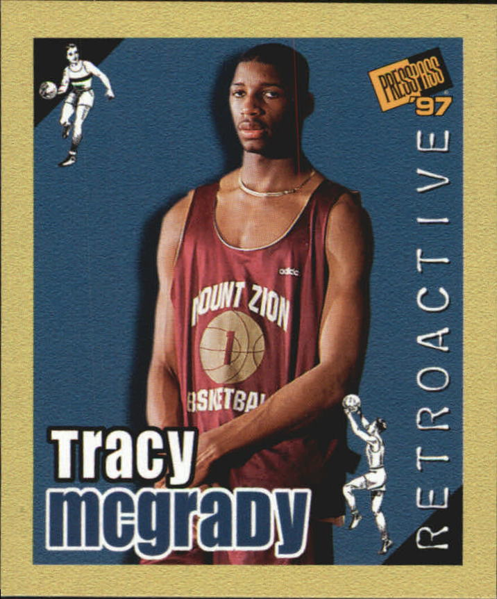 1997 Press Pass Double Threat Retroactive #RA9 Tracy McGrady