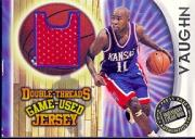 1997 Press Pass Double Threat Double Thread Jerseys #DD5 Jacques Vaughn/Karl Malone