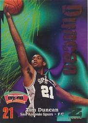 1997-98 Z-Force #111 Tim Duncan RC