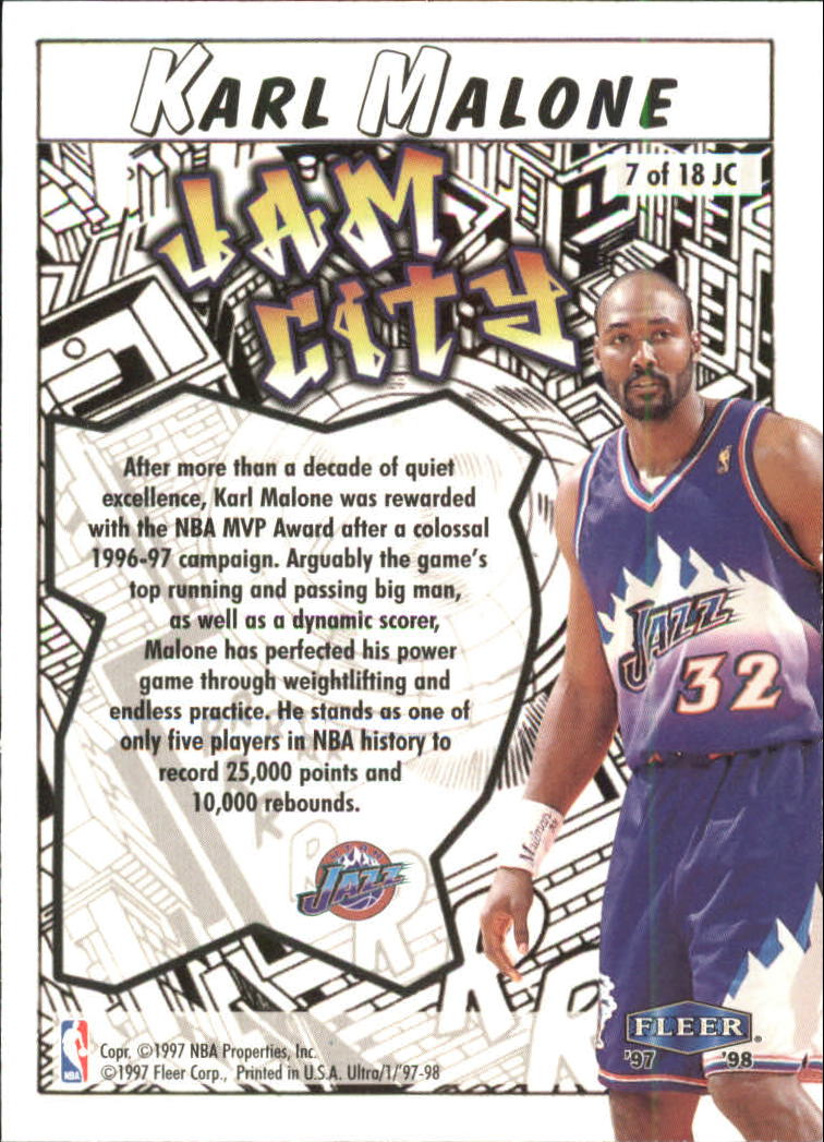 1997-98-Ultra-Jam-City-Basketball-Cards-Pick-From-List thumbnail 7