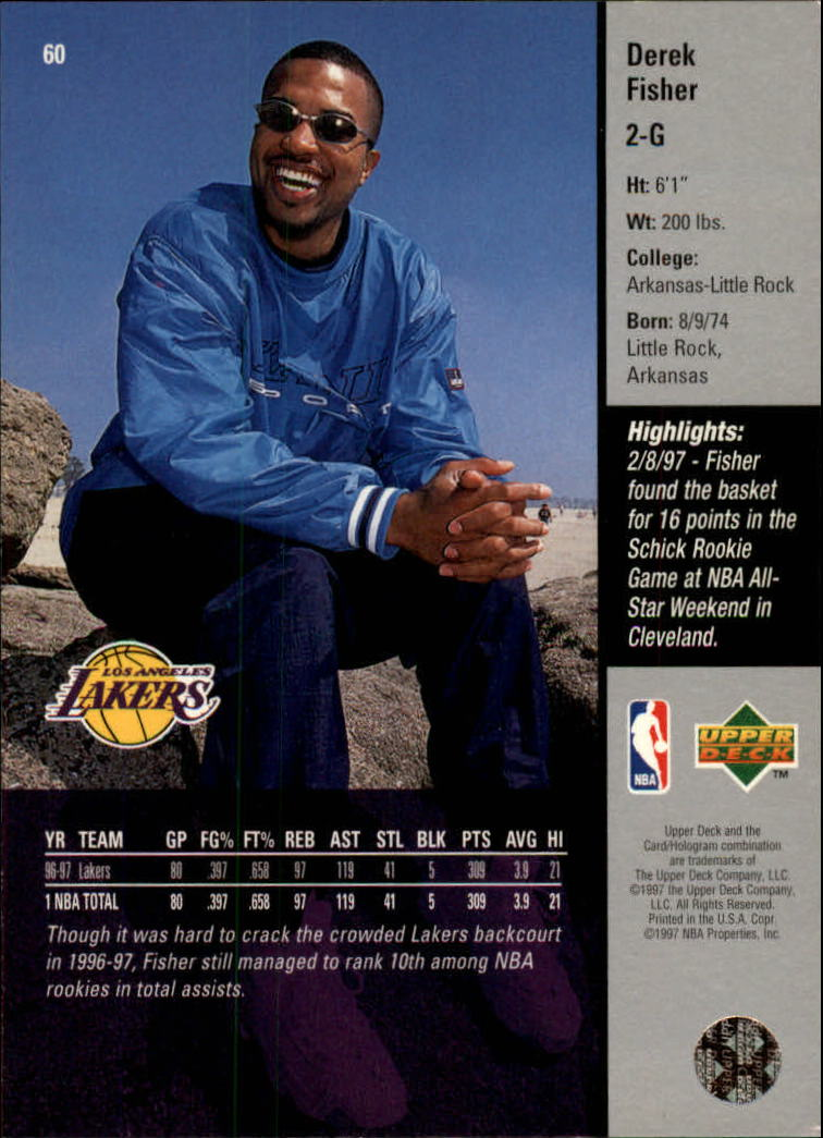 1997-98 Upper Deck #60 Derek Fisher back image