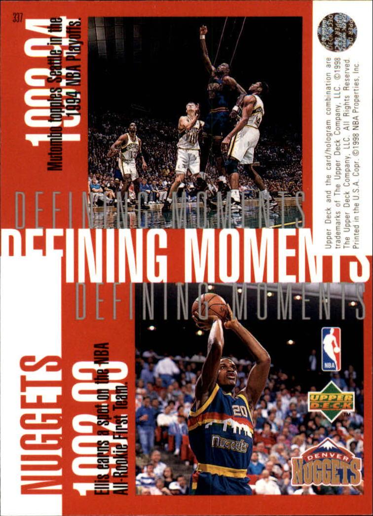 1997-98 Upper Deck #337 Bobby Jackson/Tony Battie/Dikembe Mutombo/LaPhonso Ellis back image