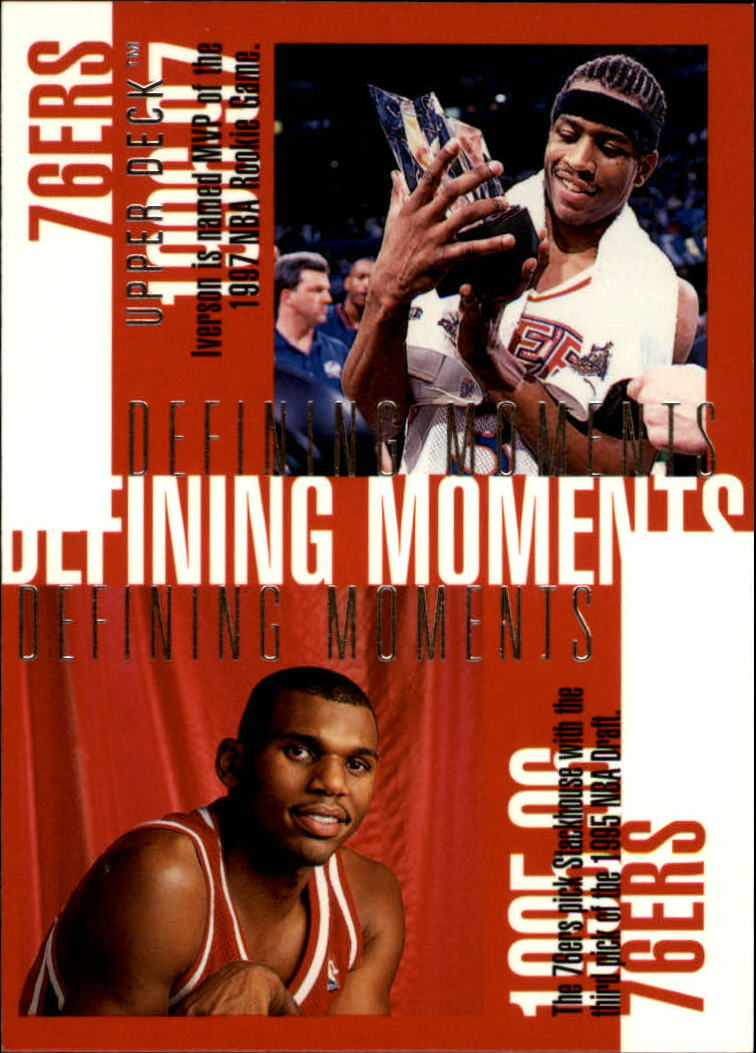 1997-98 Upper Deck #350 Allen Iverson/Jerry Stackhouse/Charles Barkley/Clarence Weatherspoon