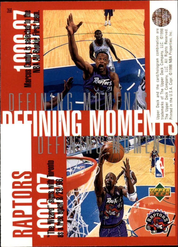 1997-98 Upper Deck #356 Damon Stoudamire/Tracy McGrady/Marcus Camby/Walt Williams back image