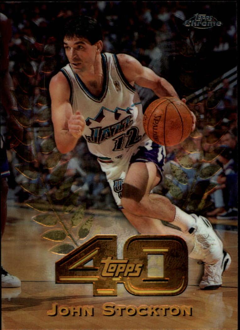 1997-98 Topps Chrome Topps 40 #T25 John Stockton