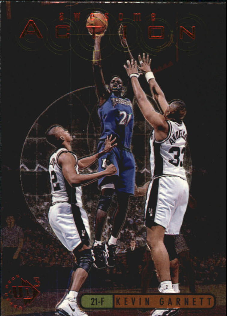 1997-98 UD3 Awesome Action #A10 Kevin Garnett