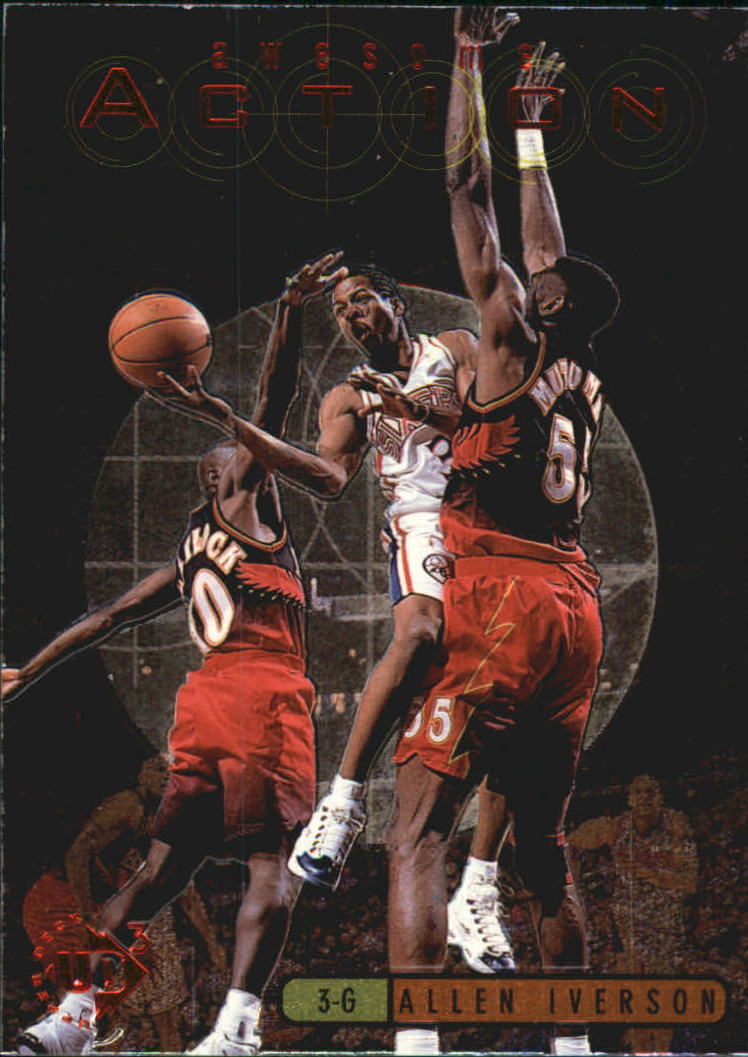 1997-98 UD3 Awesome Action #A13 Allen Iverson