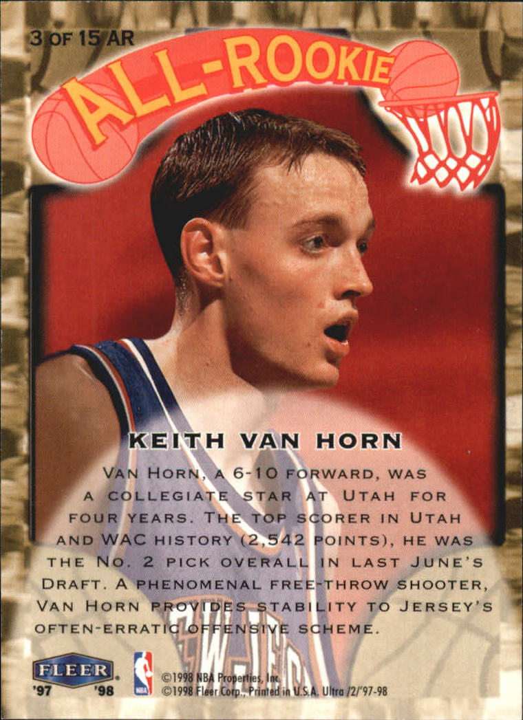 1997-98-Ultra-All-Rookies-Basketball-Cards-Pick-From-List thumbnail 3