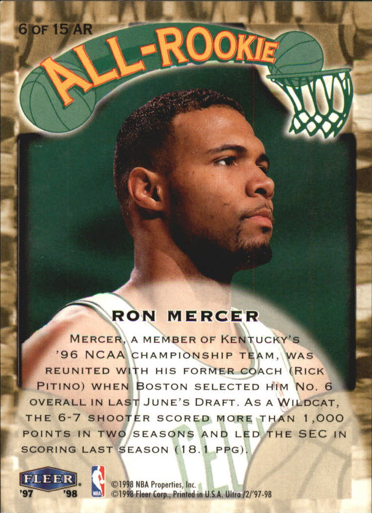 1997-98-Ultra-All-Rookies-Basketball-Cards-Pick-From-List thumbnail 5