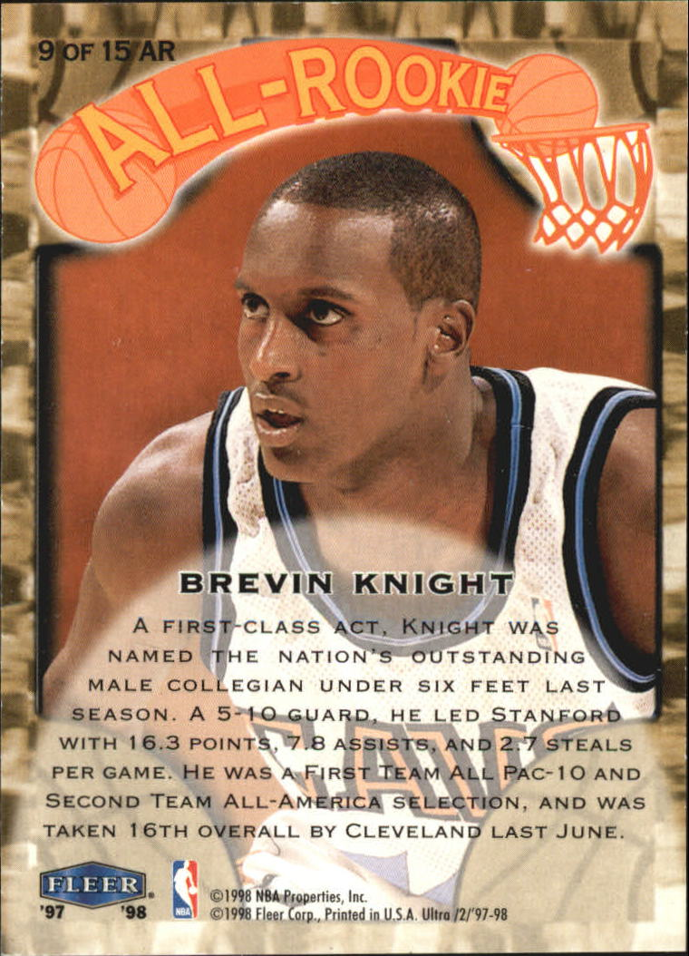 1997-98-Ultra-All-Rookies-Basketball-Cards-Pick-From-List thumbnail 7