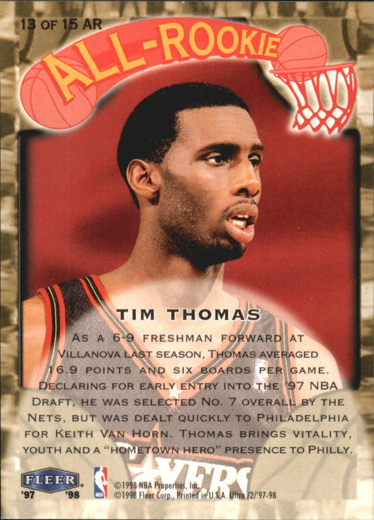 1997-98-Ultra-All-Rookies-Basketball-Cards-Pick-From-List thumbnail 9