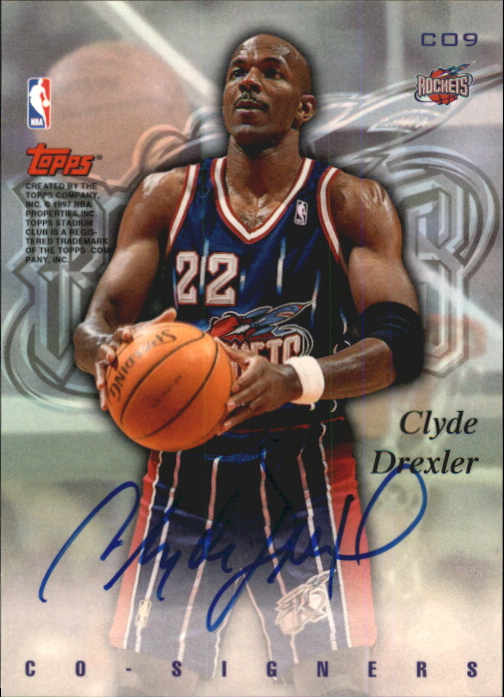 1997-98 Stadium Club Co-Signers #CO9 Juwan Howard/Clyde Drexler back image